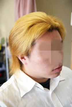 仙台市ホワイトブリーチ&赤・青のヘアカラー